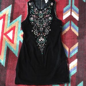 Ecote Black velvet dress